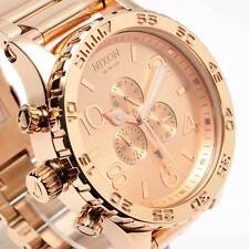 New NIXON Watch Mens 51-30 CHRONO ALL Rose Gold A083897 A083-897