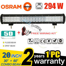"""5D 294W 20""""INCH OSRAM LED LIGHT BAR COMBO OFFROAD PICKUP DRIVING 4X4WD CAR TRUCK"""