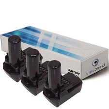 Lot de 3 batteries type BCL 1030 pour Hitachi 1500mAh 10.8V - Société Française-