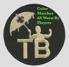 "3"" New Orleans Saints Football Jersey Tom Benson Commemorative Patch Drew Brees"