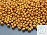 1200 Fire Polished Beads 4mm Matte Metallic Goldenrot WHOLESALE