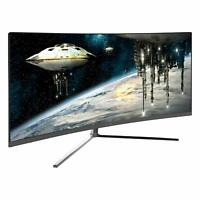 """Open Box Viotek GN34C 34"""" Ultrawide Curved Gaming Professional Computer Monitor"""