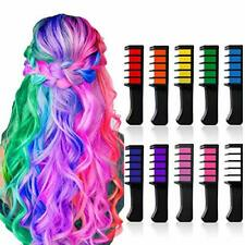 10 Colors Hair Chalk for Girls Gift Kids Temporary Hair Chalk Comb Color Set ...