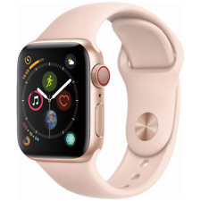 Reloj de Apple serie 4 40mm Gps + Celular 4G LTE-Banda De Oro Rosa Sport