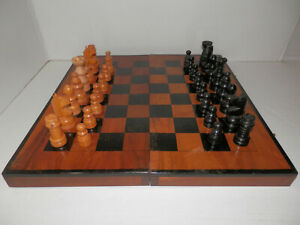 !Collection Sell-Out! Vintage Wooden Chess Set Chess Board Traveling