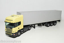 TEKNO SCANIA 144L 144 L TOPLINE TRUCK WITH TRAILER CONTAINER PROMOTIONAL N MINT
