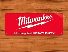 "TIN SIGN ""Milwaukee Red"" Tools Garage Advertisement Wall Decor"