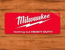 "TIN-UPS TIN SIGN ""Milwaukee Red"" Tools Garage Advertisement Wall Decor"