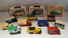 Un Trabajo Lote De 13 Lledo Modelo Camiones. buen Estado