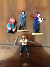 Lot Of 4 safari And Other pirate figures pvc