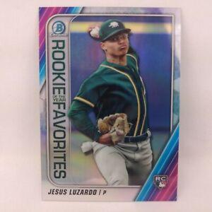 2020 Bowman Baseball Jesus Luzardo Chrome Rookie of the Year Favorites Insert