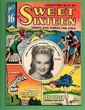 Vintage Sweet Sixteen Comics and Stories For Girls #8 August 1947 Shirley Jones