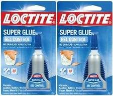 2 New 4g LOCTITE Super Glue GEL Control Clear NO DRIP Leather Cork Rubber 234790