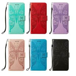 Embossed Butterfly Flip Wallet Leather Case Cover For Nokia/LG/Motorola/Sony