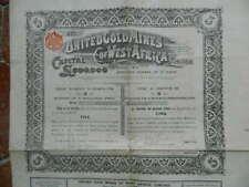 Action Obligation United Gold Mines of West Africa Ltd Londres 1904
