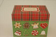 Hallmark Holiday Christmas Recipe Box Red Plaid w/Recipe Cards NEW! L#260