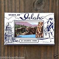 Original Vintage MINI SOUVENIR IDAHO Postcards Mailer Booklet 1930s NOS