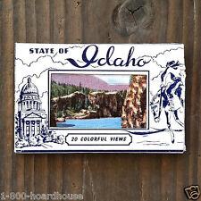 10 WHOLESALE LOT Original MINI SOUVENIR IDAHO Postcards Mailer Booklet 1930s NOS
