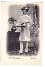 India postcard Hindu Butler costume