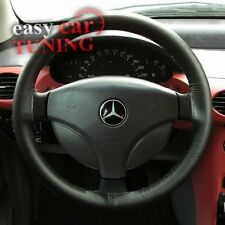FOR MERCEDES A CLASS W168 97 -04 BLACK REAL GENUINE LEATHER STEERING WHEEL COVER