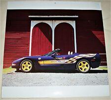 1998 Chevrolet Corvette Indy Pace Car convertible car print (purple & yellow)
