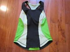 LULULEMON CARDIO KICK TANK BLACK FADED ZAP AND FROND SIZE 6 WITH CUPS