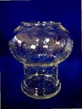 Crackle Blown Glass Patio Light Shaped Vase / Votive