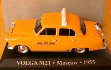 VOLGA M21 JAUNE YELLOW TAXI MOSCOW 1955 RUSSIE 1/43 IXO ALTAYA RUSSIA URSS CCCP