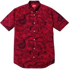 SUPREME Paisley Shirt Red M Box Logo 2012 safari camp cap kate moss S/S 13