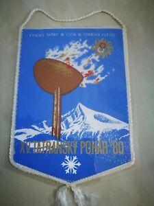 Czechoslovakia Winter Olympics Banner Pennant Wimpel 1980
