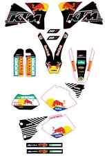 kit pegatinas ktm exc-sx 125-520, 2000-01-02, graphics, adhesivo, decal, sticker