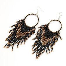 Indiana Orecchini in Perle Accessorio Indiano Orecchino Perle Nero Colori Dorati