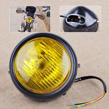 motorrad Scheinwerfer Gelb Vintage Retro Racer fit Harley Suzuki Honda Yamaha