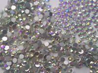 Swarovski AB Clear Crystals Non Hotfix Rhinestones for Nail Art Decoration