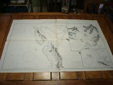 Vintage WW II Era Nautical Chart Map: PLANS on the SOUTH COAST OF PAPUA