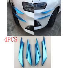 4X Blue Waterproof Car Off-Road Front Bumper Decor Canard Splitter Splitter Chin