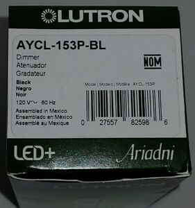 Lutron Ariadni Toggle LED Halogen CFL Dimmer Wall Switch 3-Way AYCL-153P-BL