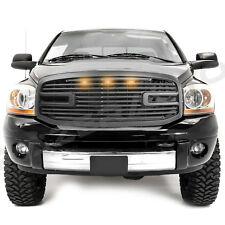 Matte Black Big Horn+3x LED+Grille+Replacement Shell for 06-09 RAM 2500+3500