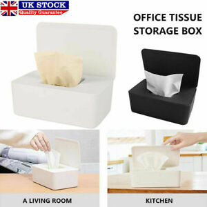 Tissue Box Holder Wet Wipes Dispenser Paper Storage Case With Lid Dustproof UK