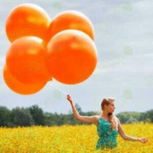 "JUMBO Orange, 3 FOOT ROUND BALLOONS, Qualatex Giant 36"" Halloween decorations"