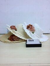 1 cappello beige chiaro elegante cerimonia taglia unica hat cocktail donna mare