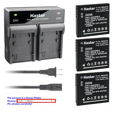 Kastar Battery Rapid Charger for Panasonic DMW-BCK7 DE-A92 Lumix DMC-FH4 Camera