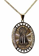Caridad del Cobre Medal Necklace 18K Gold Plated Medalla with 20 inch Chain