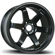 """18x8 AVID1 AV-06 TE37 Style AV06 5X112 Black Wheels Rims Set(4) rota style 18"""""""