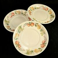 3 Wedgwood Quince Saucers Flat Cup Fruit Ring Cereal England Apples Salad Pears