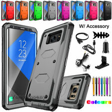 Samsung Galaxy Note 5 8 9 10 Plus Hybrid Armor Protective Impact Hard Case Cover