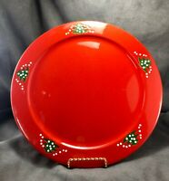 """Waechtersbach Red Christmas Tree 12 1/8"""" Plate Platter Charger Cookie W Germany"""