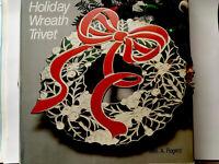 Vtg New  Holiday Wreath Trivet Wm. A. Rogers Oneida Silversmiths Christmas Decor