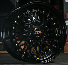 "17"" ESR SR3 Wheels 17x8.5 Gloss Black For Lexus GS300 GS400 IS300 IS250 Rims"