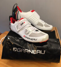 New! Louis Garneau Tri-400 Triathlon, Cycling Shoes - Men's 44 USA 10 White